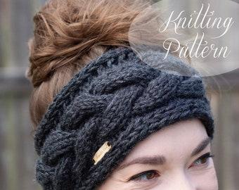 KNITTING PATTERN // Braided Cable Headband // Bulky Version // Beginner Pattern // Headband Knitting Pattern // Ear Warmer