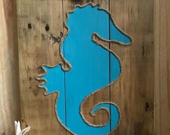 Handmade Seahorse Love wall art