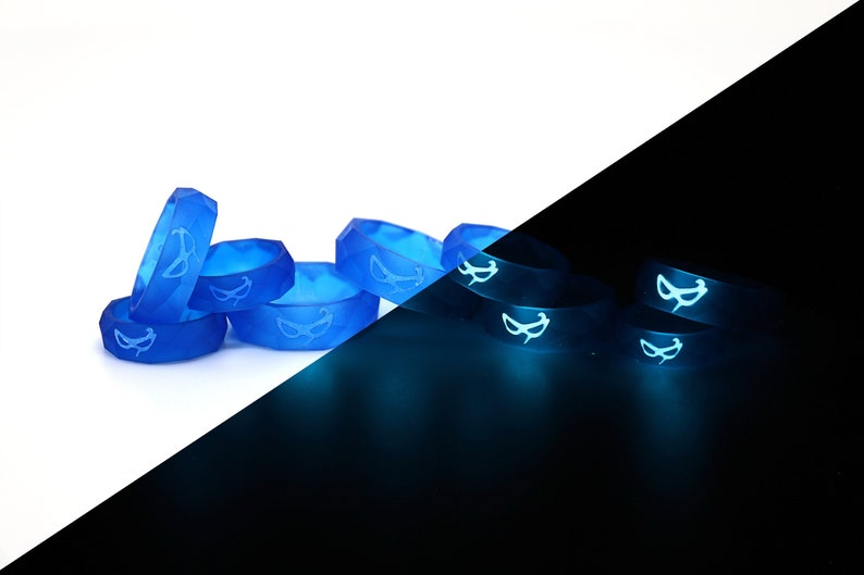 Blue Mage FFXIV Ring Glow in the Dark Soul Crystal/BLM Job Stone Final  Fantasy XIV FF14