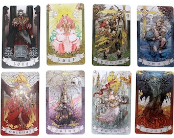 FFXIV Astrologian Cards Set, AST FF14 Final Fantasy 14 Lord and Lady Included