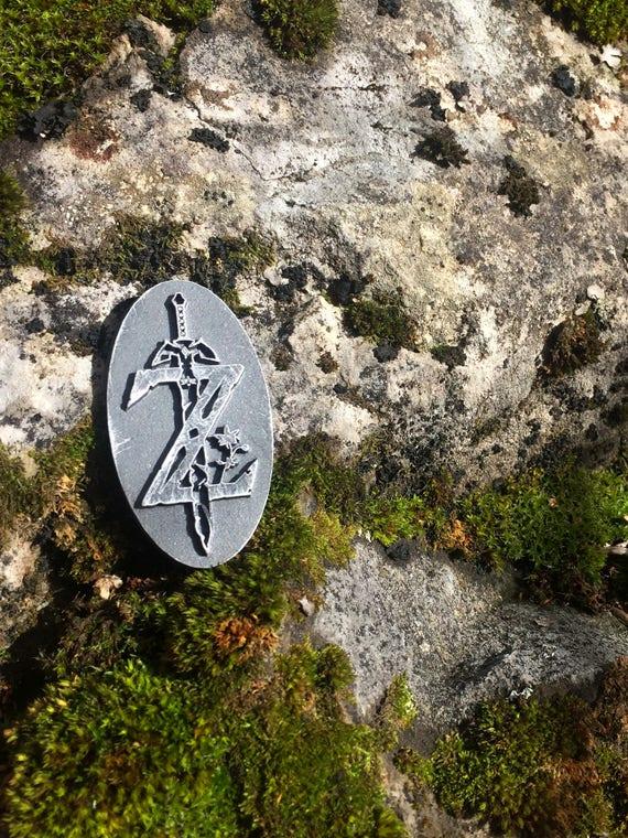 UFFICIALE la leggenda di Zelda SOFFIO di The Wild-sheikah OCCHIO Simbolo Portachiavi