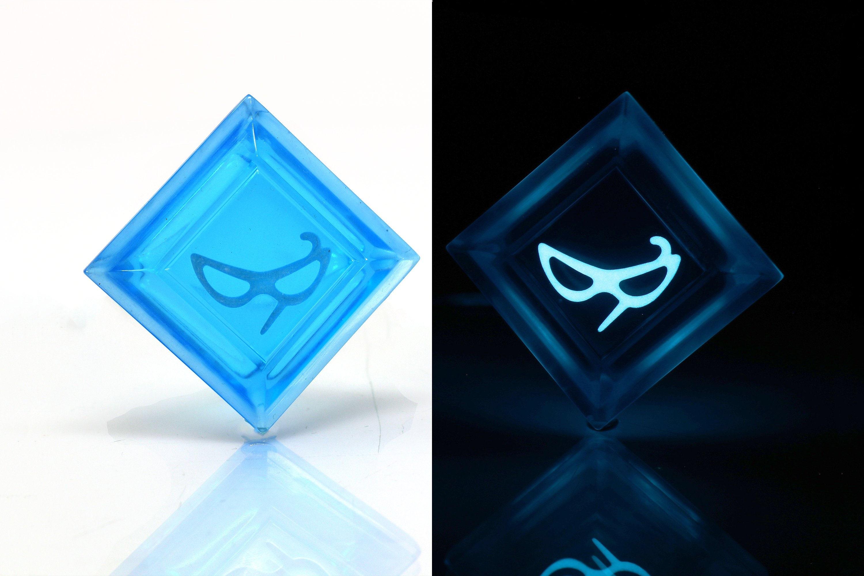 Clear Blue Mage FFXIV Glow in the Dark Soul Crystal/Blu Job Stone Final  Fantasy XIV FF14
