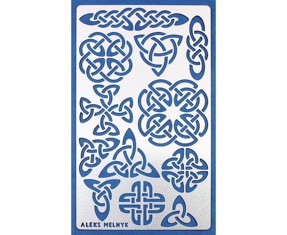 Celtic Knot Stencil Irish Heritage Viking Symbols Reusable Etsy