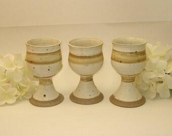 Wine Goblet Wheel Thrown Stoneware Glazed Pottery Wine Chalice Retro Kitchen Decor Wine Drinking Mugs Goblets Cups
