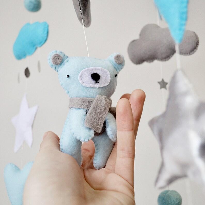 2bc07f2501dd1 Blue Bear Baby Crib Felt Mobile - Girl mobile - Baby Crib Mobile - Bright  Light ... Blue Bear Baby Crib Felt Mobile - Girl mobile - Baby Crib Mobile  ...