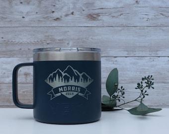 Custom Engraved Authentic YETI Coffee Mug / Personalized Stainless Steel Tumbler