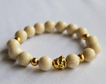 Buddha meditation bracelet Yoga bracelet Gemstone bracelet Mala bracelet Mens bracelet Tibetan jewelry Spiritual jewelry Gift for boyfriend