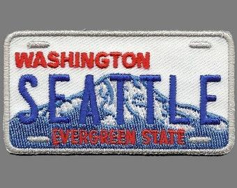 Vintage 1982 Mini Automobile Tin License Washington State WA Souvenir Plate