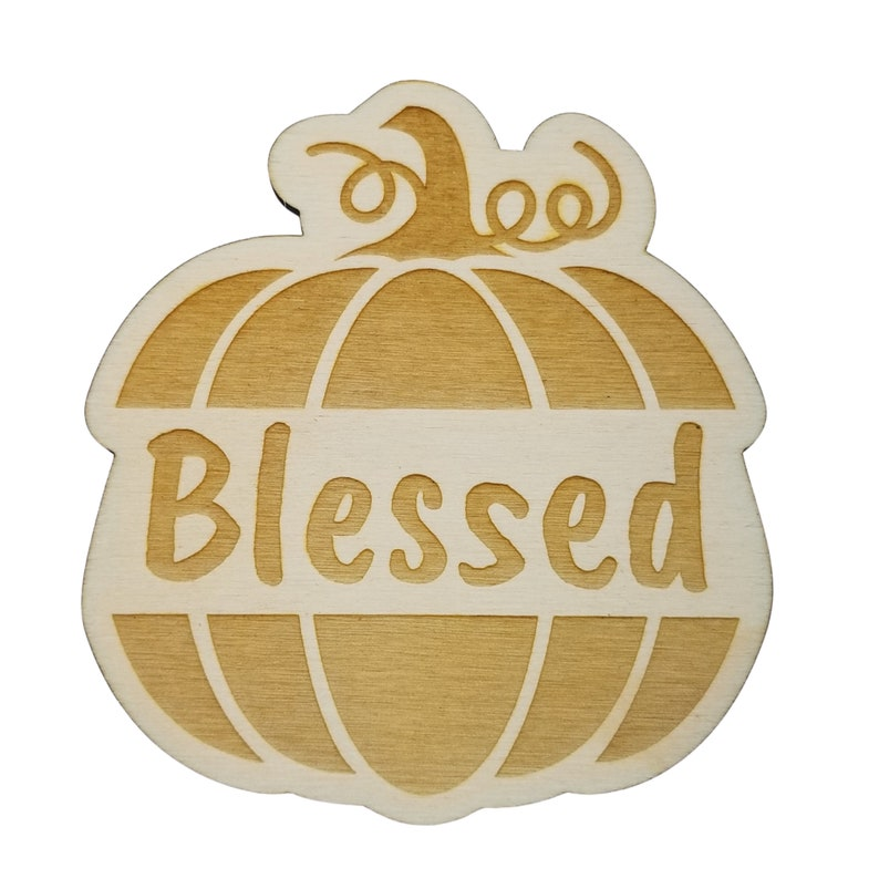 Blessed Pumpkin Place Holder Thanksgiving Place Setting Thanksgiving Table Decor Thanksgiving Place Card Set of 4