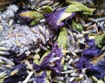 Twilight Herbal Bath Soak ~ Relaxing and Soothing ~ Natural Salts, Herbs and Oils