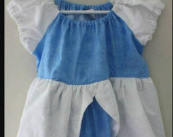 Cinderella Inspired Disney Princess Cotton Dress, Sizes 6M-8