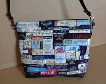 Clothing Tags Patched Crossbody Bag/ Shoulder Bag