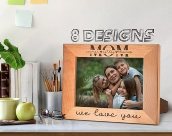 Best Mom Ever Personalized Picture Frame, Funny Mom Gifts Custom Engraved Frame, Mother's Day Gift, Mother, Daughter, Son Dog Mom, Best Mom