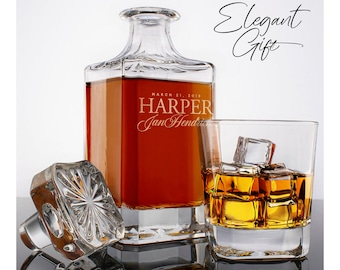 Whiskey Decanter Set, Father's Day Personalize Gift for Dad, Wedding Gift, Gift For Him, Housewarming, Groomsman, Husband, Whiskey Scotch