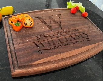 Custom Cutting Board - 10 Style - 9 Designs Newly Wed Gifts, Anniversary, Wedding Gift Custom Cutting Boards | Housewarming, Christmas Gift