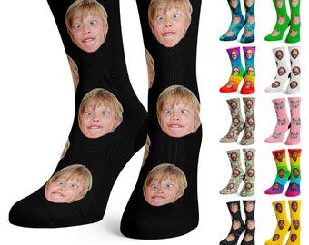 Custom Face Socks, Personalize Photo Sock with Your Face for Men and Women, Funny Pet Face Socks Christmas, Birthday Gift w Picture 19 Theme