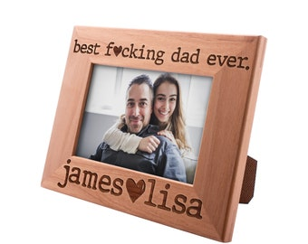 Personalized Father's Day Gift Picture Frame 4x6, Best Dad Ever, Gift for my Father, New Dad Gift, Gift for Daddy Papa Grandpa #3