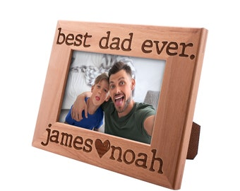 Personalized Father's Day Gift Picture Frame 4x6, Best Dad Ever, Gift for my Father, New Dad Gift, Gift for Daddy Papa Grandpa #2