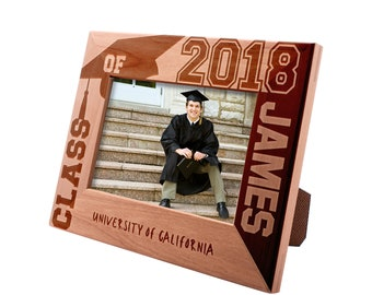 Personalized Engraved Graduation Picture Frame - Class of 2019 - University Name - Gift For High School or College Graduate Gift #12