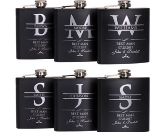 Groomsmen Gift, Personalized Flask Set Groomsman Gifts - Personalized Flask Set - Bachelor Party Gift, Custom Flask Set | Wedding Flask Set
