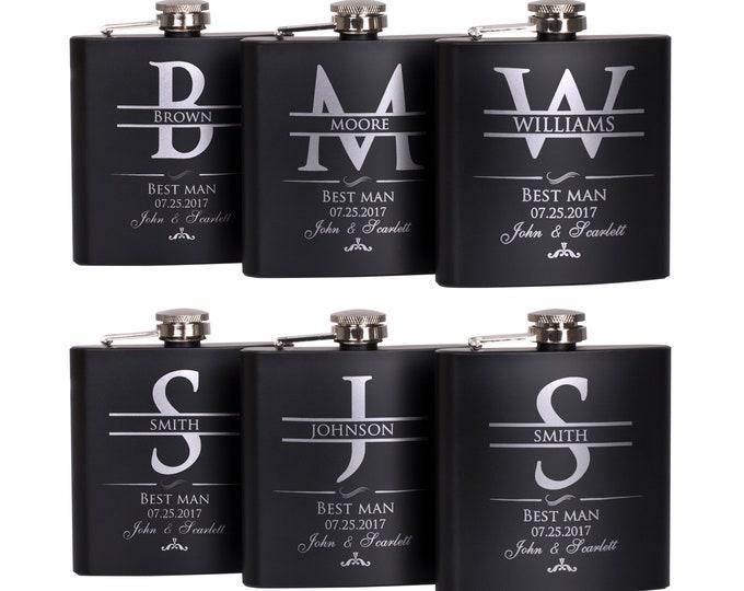 Featured listing image: Groomsmen Gift, Personalized Flask Set Groomsman Gifts - Personalized Flask Set - Bachelor Party Gift, Custom Flask Set | Wedding Flask Set