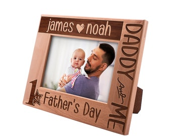 Personalized Father's Day Gift Picture Frame 4x6, Best Dad Ever, Gift for my Father, New Dad Gift, Gift for Daddy Papa First Father's Day #1