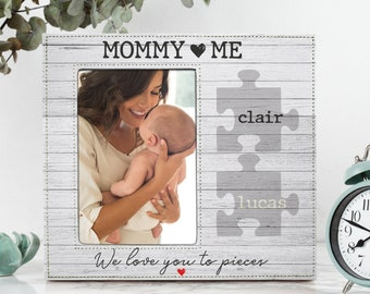 Personalized Mothers Day Gift | Mommy & Me | Expecting Mom Gift, Custom 4x6, 5x7 Picture Frame, Mommy Gift, Gift for Mom D10
