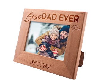 Personalized Father's Day Gift Picture Frame 4x6, Best Dad Ever, Gift for my Father, New Dad Gift, Gift for Daddy Papa #14