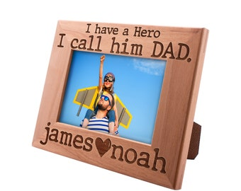 Personalized Father's Day Gift Picture Frame 4x6, Best Dad Ever, Gift for my Father, New Dad Gift, Gift for Daddy Papa Grandpa #6