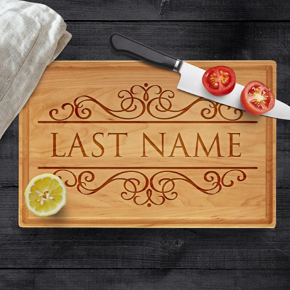 Personalized Cutting Board, Last Name Engraved Gifts for Parents ...