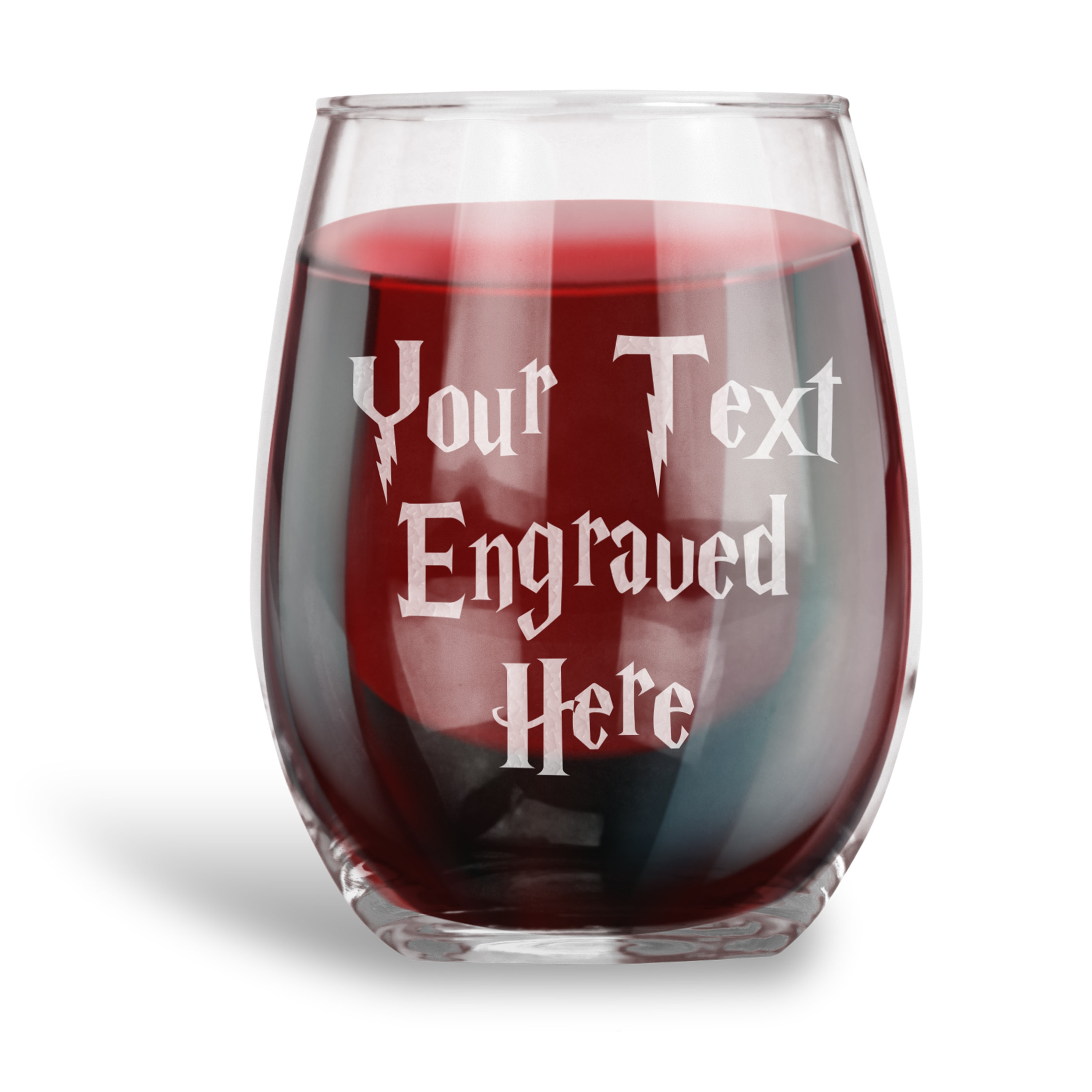 1f6f317f624 Personalized 15 oz. Stemless Wine Glass Engraved with Your Custom Text - Personalized  Gifts, Humor Drinkware, Funny Gift