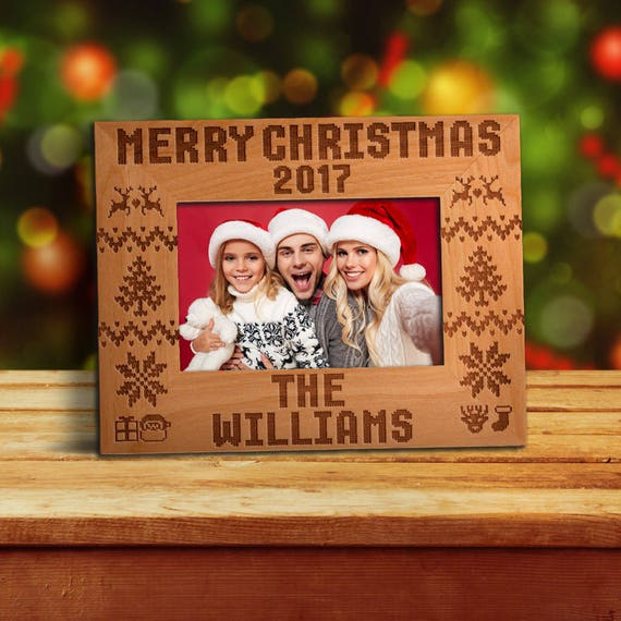 P Lab Personalized Photo Frame For Christmas Merry Christmas Etsy