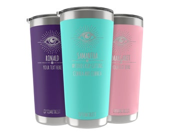 Optometry Gifts, 34 Job Titles, Personalized Tumbler Custom w/Name, Quote 20 OZ-30 OZ, Optometrist Gifts, Eye Doctor Gifts