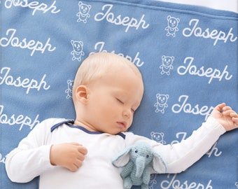 Personalized Baby Blankets w/ Name, Fleece - 2 Size, Custom Blankets for Babies & Kids - Soft Blankets for Boys, Girls and Newborns