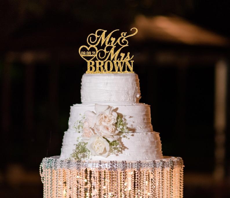 Personalized Wedding Cake Topper Custom Cake Topper for image 0
