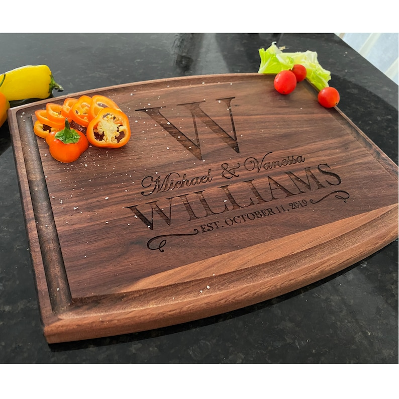 Custom Cutting Board  10 Style  9 Designs Newly Wed Gifts image 1