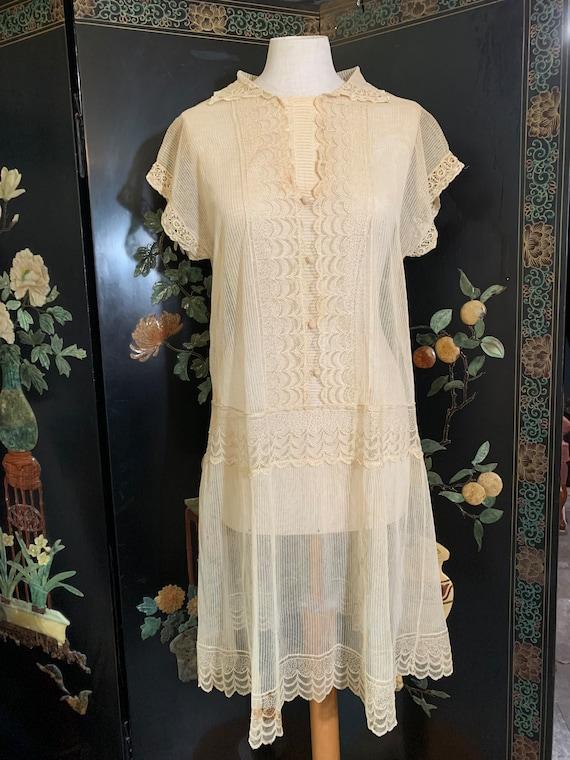 Vintage 1920s chemise/ slip dress