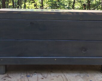 Trunk Coffee Table Etsy - Grey chest coffee table
