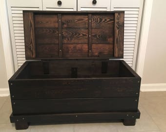 Hinged Wood Trunk, Coffee Table