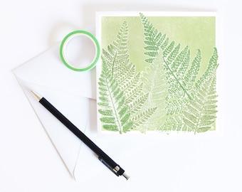 Spring Ferns Greetings Card | Art | Floral | Botanical | Birthday | House Plant | Garden Lover | Wedding | Spring Equinox | Sympathies