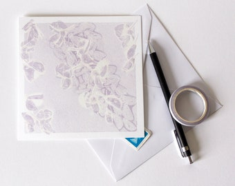 Wisteria Greetings Card | Art | Floral | Botanical | Birthday | Wedding | Anniversary | New Born Baby | Purple Petals | Sympathies