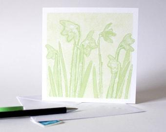 Snowdrop Greetings Card | Art | Floral | Botanical | Birthday | Birth Flower | Wedding | Spring Equinox | Fresh White Flowers | Sympathies
