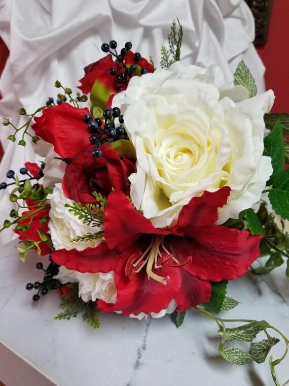 Silk Blumen Hochzeit Brautstrauss Wilde Laub Ansteckblume Etsy