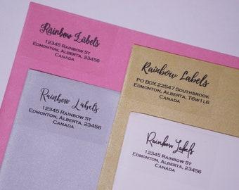 Return address label,Clear return label,Custom address label,Clear address,address label sticker,return mailing label,personalized Clear
