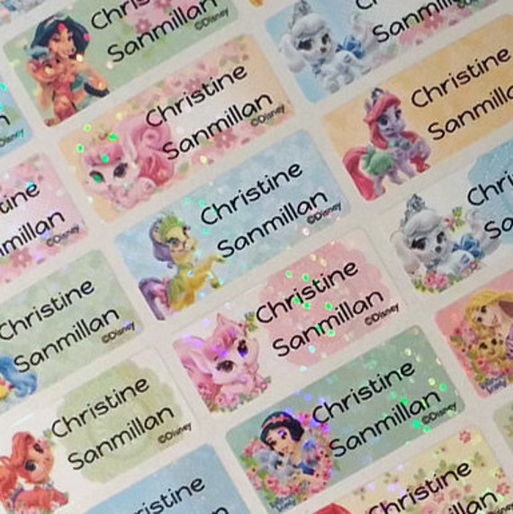 4a38794e5670 Kids Waterproof Name Labels, Name Stickers, Disney Princess Pet, Name Tag,  Name Decal, Children Name Labels, Child Name Stickers, Medium