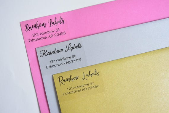 clear address labels return address labels personalized etsy