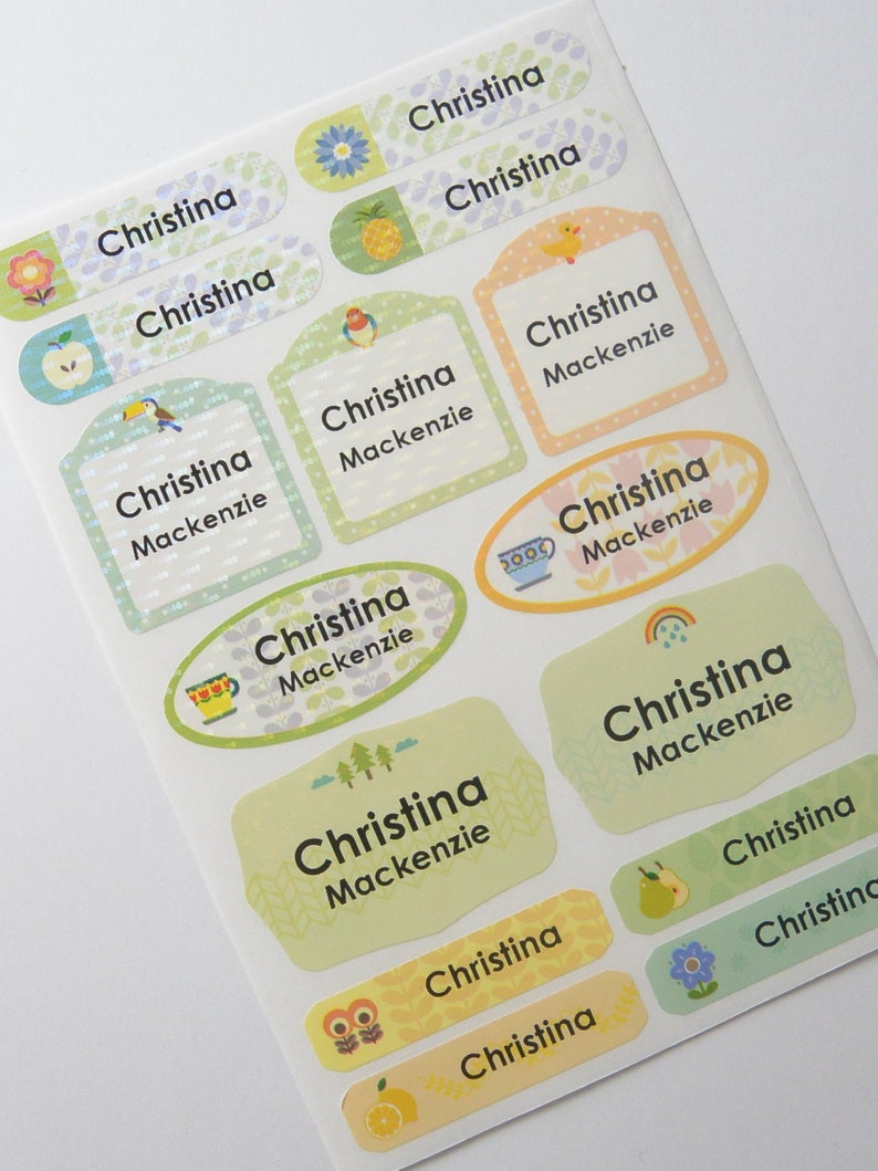 Waterproof name labels custom name stickers personalized labels baby bottle labels kids labels daycare labels summer camp sticker