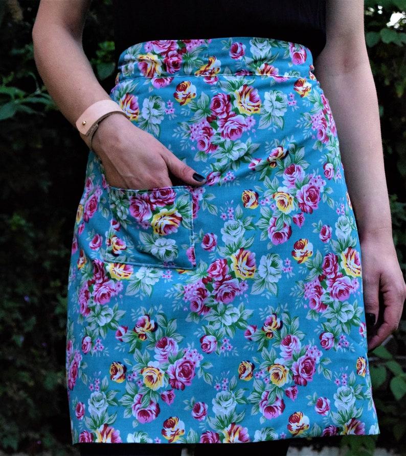 Floral Half Apron Cotton Apron Womens
