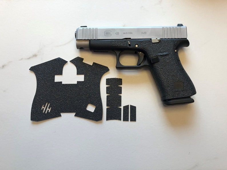 HANDLEITGRIPS Textured Rubber Gun Grip Wrap for Glock 48
