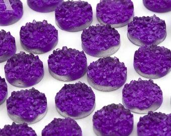 10 PurpleBlue 12mm Resin Cabochons H519